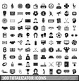 100 totalizator icons set simple style vector image vector image