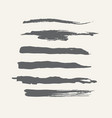 abstract grunge curly handmade grey brushes vector image vector image