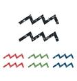 Aquarius grunge icon set vector image vector image