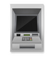 atm realistic payment machine 3d banking vector image