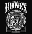 bad bone crew always win vector image vector image