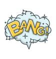 bang sound visualization with big cloud shiny vector image vector image