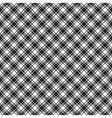 Black white diagonal check fabric texture seamless vector image vector image