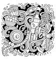 cartoon doodles diet food vector image vector image