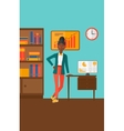 Cheerful office clerk vector image vector image