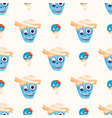 colorful zombie scary cartoon character seamless vector image vector image