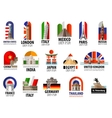 countries world logo design template vector image vector image