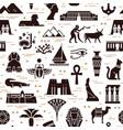 dark seamless pattern symbols landmarks and vector image vector image
