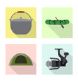 design of fish and fishing icon collection vector image