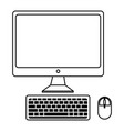 desktop computer isolated icon vector image