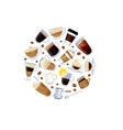 different types coffee with beans vector image vector image