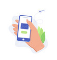 e-mail service marketing sending concept vector image vector image