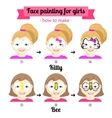 face painting for girls 1 vector image vector image