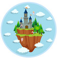 fairy tale island scene vector image vector image