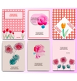 floral invitation set vector image vector image