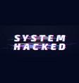 glitch font system hacked alphabet or digital vector image