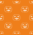 halloween tile pattern with white pumpkin vector image vector image