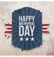 happy memorial day patriotic poster and ribbon vector image
