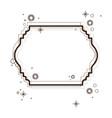 heraldic decorative border in brown color vector image