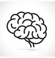 human brain isolated icon vector image