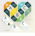 Infographics - five step process vector image vector image
