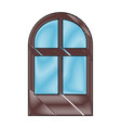 isolated brown window vector image vector image