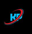 kp k p letter logo design initial letter kp vector image vector image