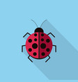 ladybug icon set of great flat icons design vector image vector image