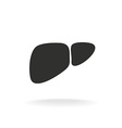 Liver simple black silhouette shape One color vector image vector image