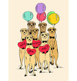 Love Card With Funny Meerkats vector image vector image