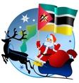 Merry Christmas Mozambique vector image vector image