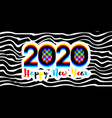 modern numbers 2020 with stereoscopic effect vector image vector image