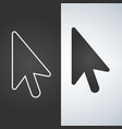 mouse arrow icon line style and classic dark vector image vector image