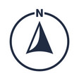 north arrow icon n direction point symbol vector image vector image