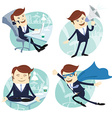 Office man set vector image