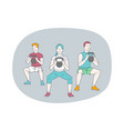 professional sport workout training concept vector image vector image