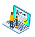 recruitment concept isometric vector image