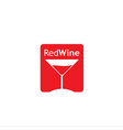 red wine logo design concept vector image