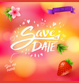 save the date placeholder text written in white vector image vector image