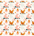 seamless pattern spring and easter pattern with vector image