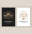 set bakery shop badge concept for badge vector image