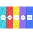 set bright seamless memphis patterns colorful vector image
