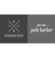 Set of Barber Shop Elements and Shave Shop Icons vector image vector image