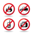 set of do not allowed symbols - vector image