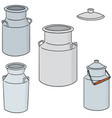 set of milk can vector image vector image