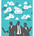 Silhouette people of Cloud concept vector image vector image
