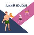 summer holidays flat vector image