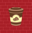 sweet coffee latte vector image vector image