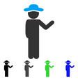 talking gentleman flat icon vector image vector image