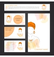Template cards and banners with woman in turban vector image